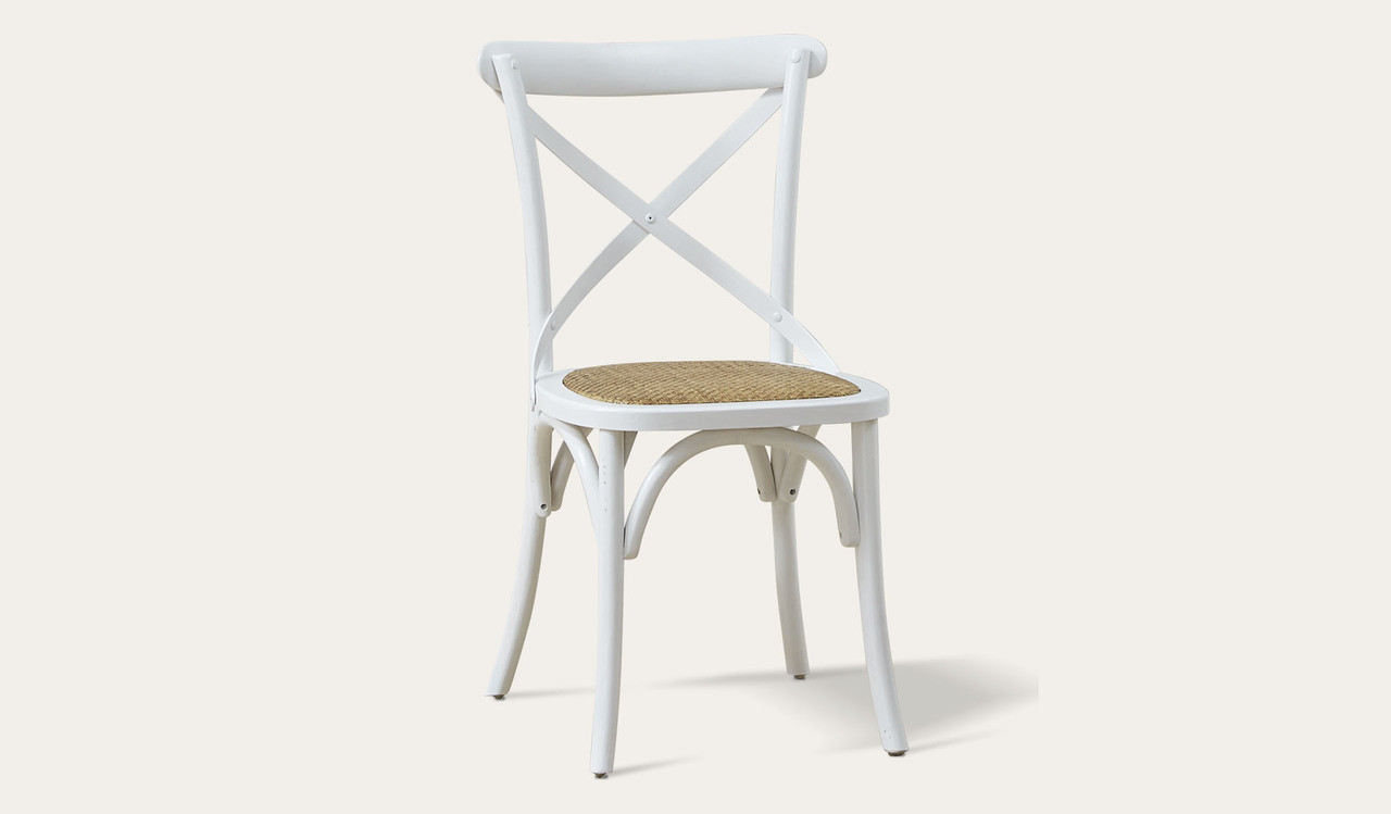White Wooden Dining Chairs Ibiza Dining Chair White