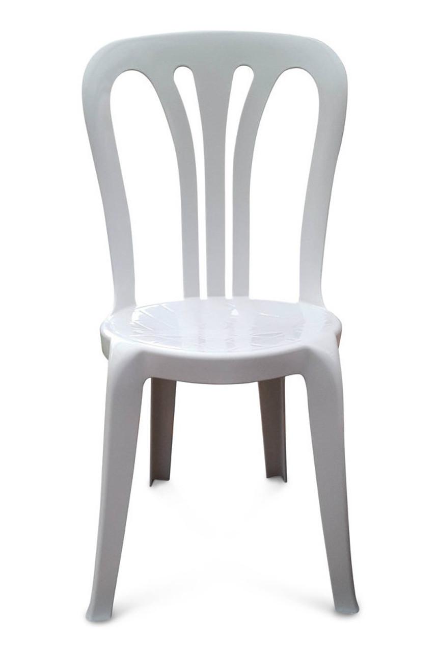 garrotxa bistro patio chair white