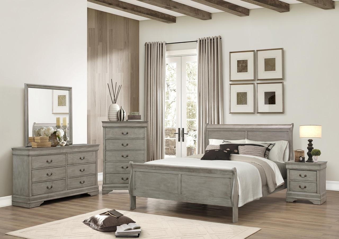 louis philip 7 piece queen bedroom set