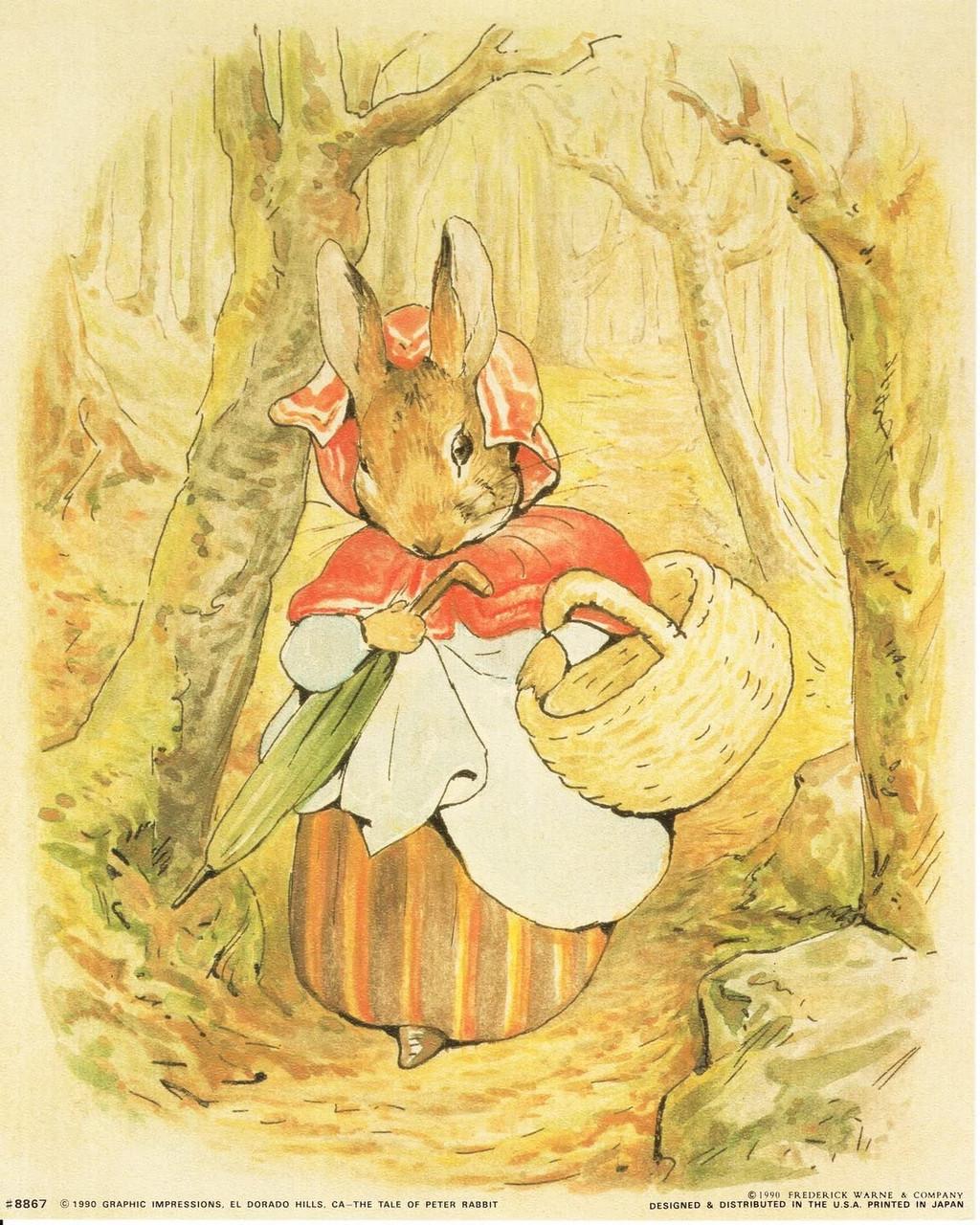 beatrix potter the tale of peter rabbit kids room art print poster 16x20