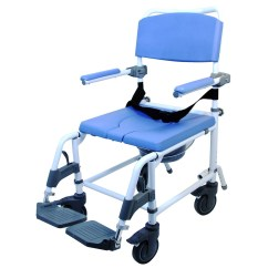 Shower Chair With Wheels And Removable Arms Nova Posture Buy Commode Height Adjustable