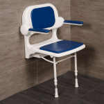 Buy Compact Wall Mounted Shower Seat Careprodx
