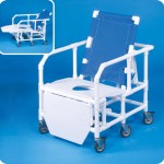 Bariatric Reclining Shower Chair With Commode Opening