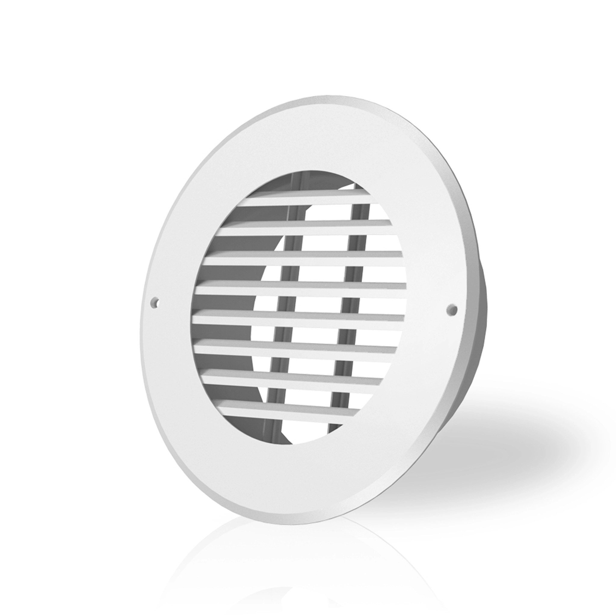 wall mount duct grille vent white steel 6 inch