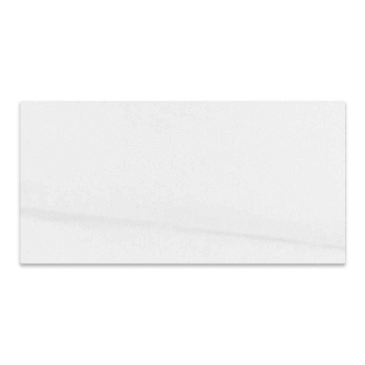 bianco dolomiti marble 18x36 tile polished
