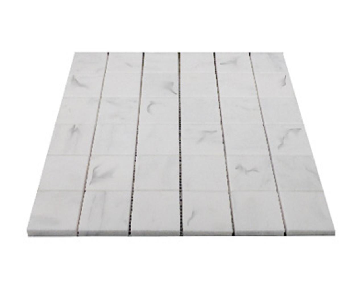 carrara marble italian white bianco carrera 2x2 mosaic tile honed