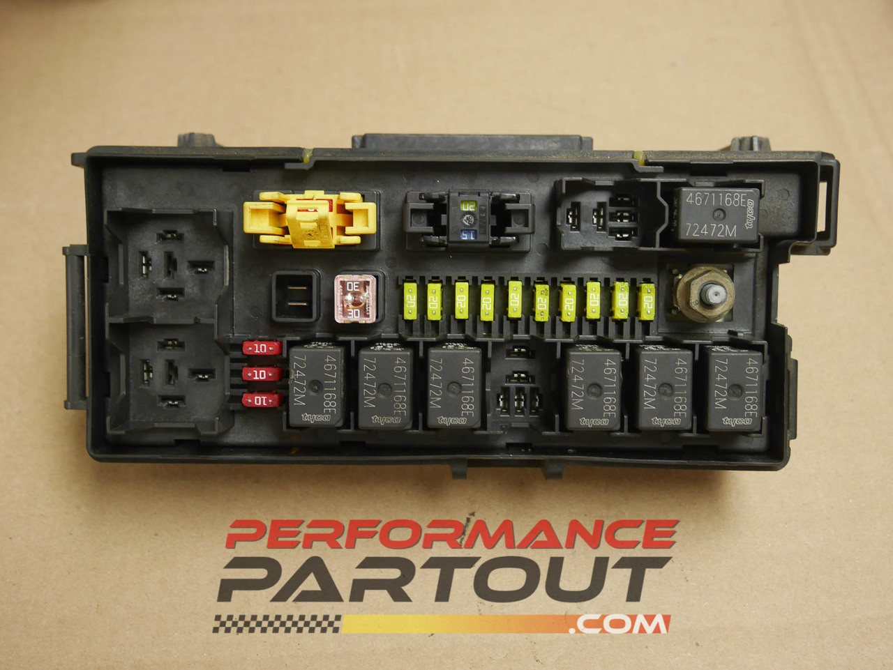 hight resolution of front end body fuse box junction jeep grand cherokee 2005 04692072aa performance partout