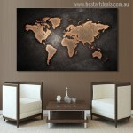 Buy Globe Design Canvas Print Wall Art Decor