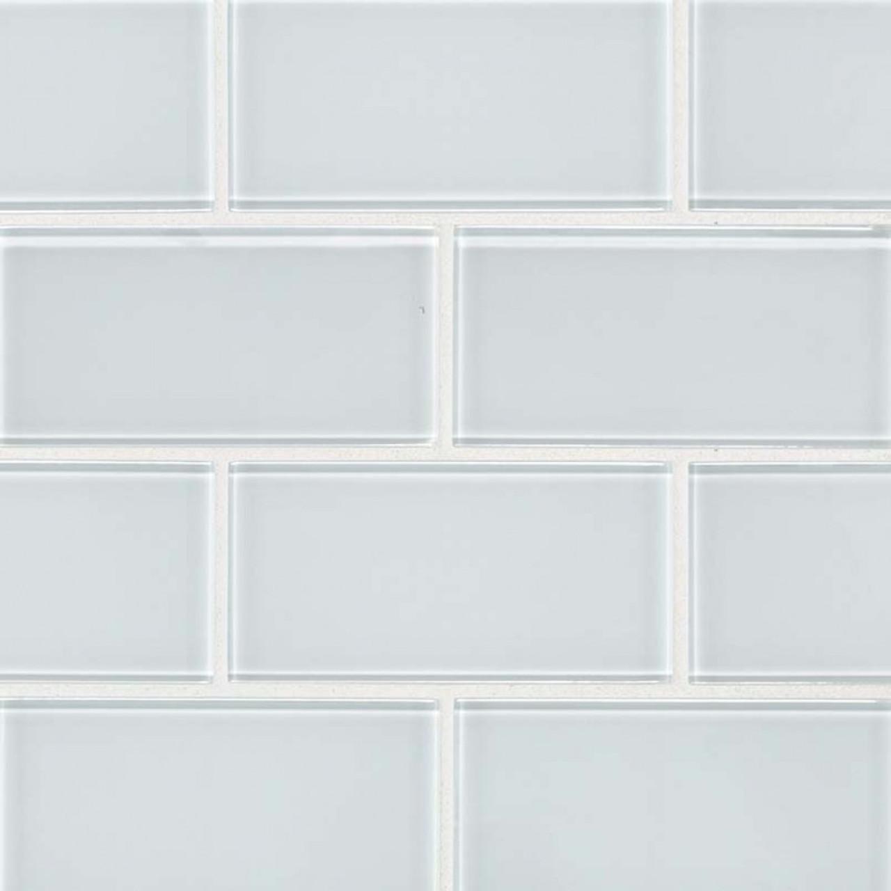 ms international backsplash series ice white 3x6 glass subway tile smot gl t ic36