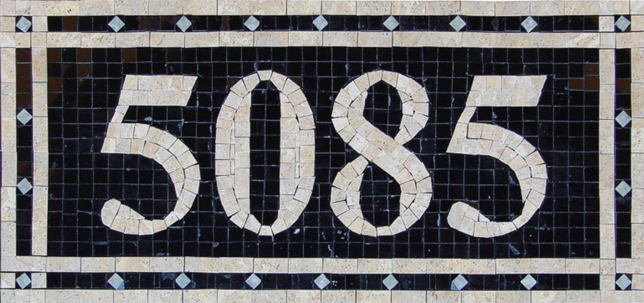 mosaic house numbers rome h1p free shipping