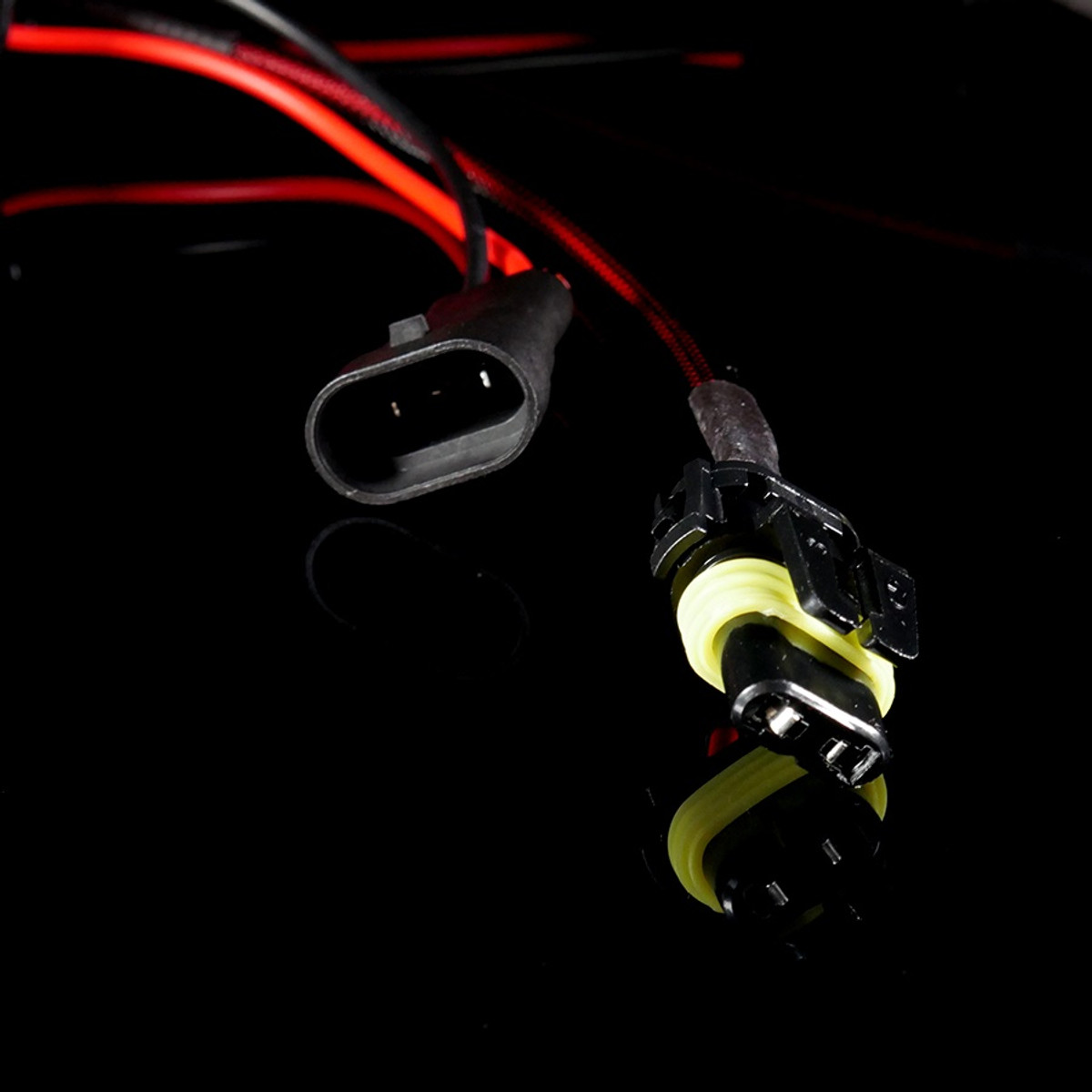 hight resolution of  gtr lighting 9005 9006 style pass through harnesses with grommet