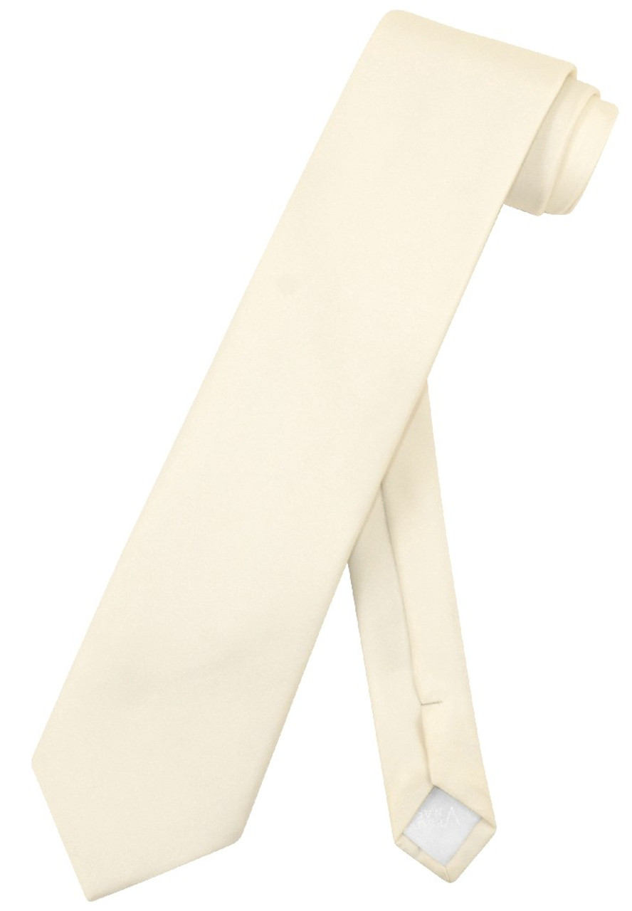 Extra Long Cream Tie Solid Cream Off White Color Xl Tie