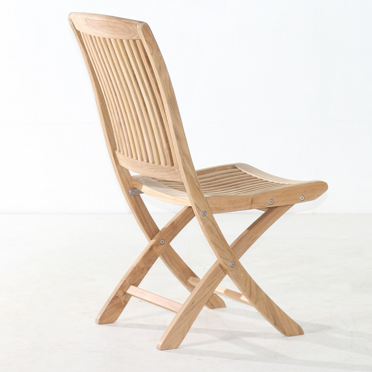 classic teak cambria folding side chair