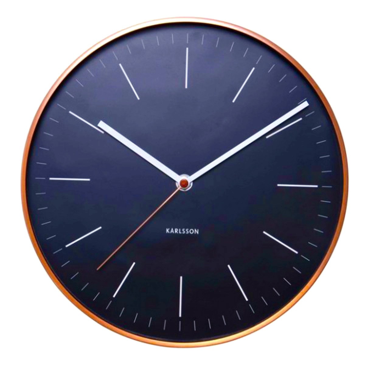 Karlsson Copper Wall Clock Watch Black Design