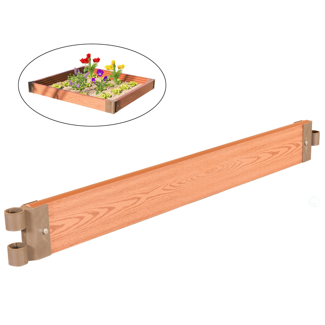 classic traditional durable wood look raised outdoor garden bed flower planter box