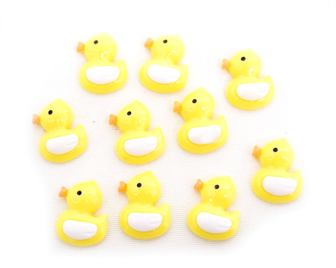 3 4 Yellow Mini Plastic Polyresin Duck For Baby Shower Favors And Decoration Pack Of 100 Pieces