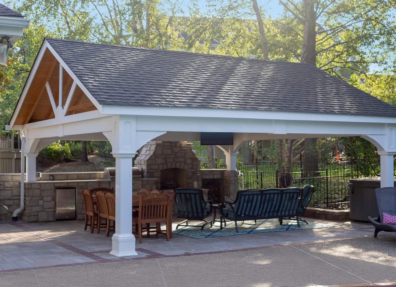 premium vinyl pavilion gabled roof