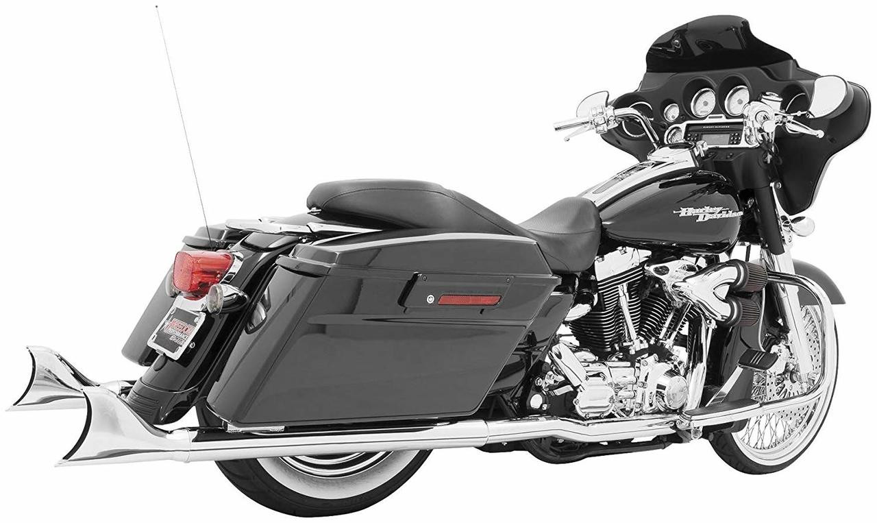 freedom performance hd00092 chrome dual slip on sharktail exhaust harley touring 2009 2016