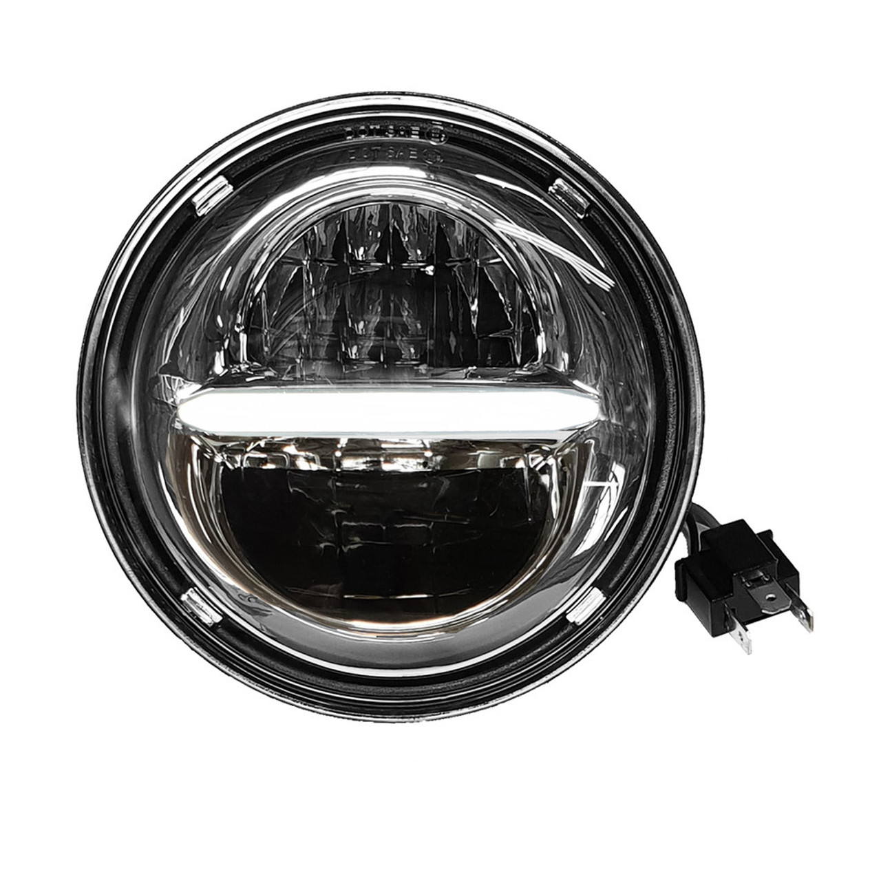 pathfinderled chrome 7 in classic headlight w daytime running lights hd7clc [ 1000 x 1000 Pixel ]