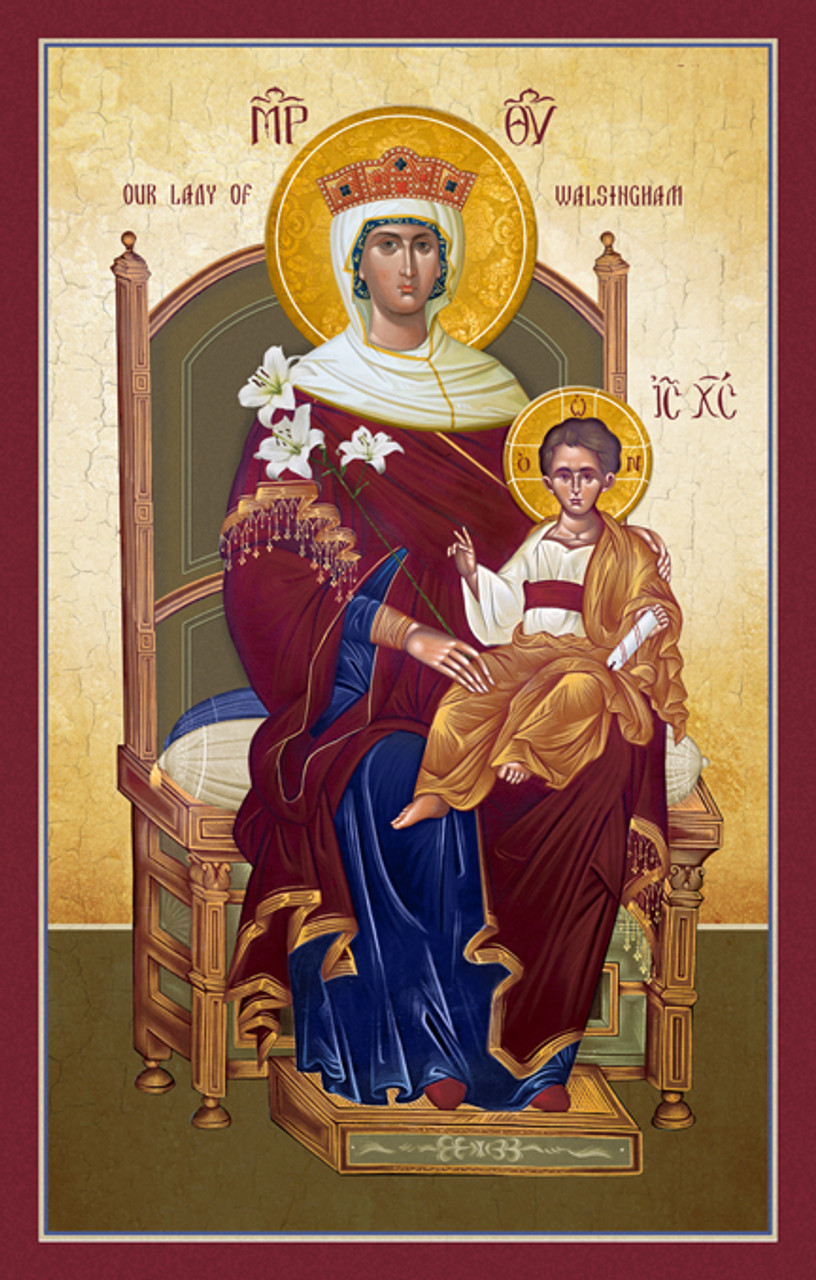 "Icon Of Theotokos "" Lady Walsingham"" - 20th Century"