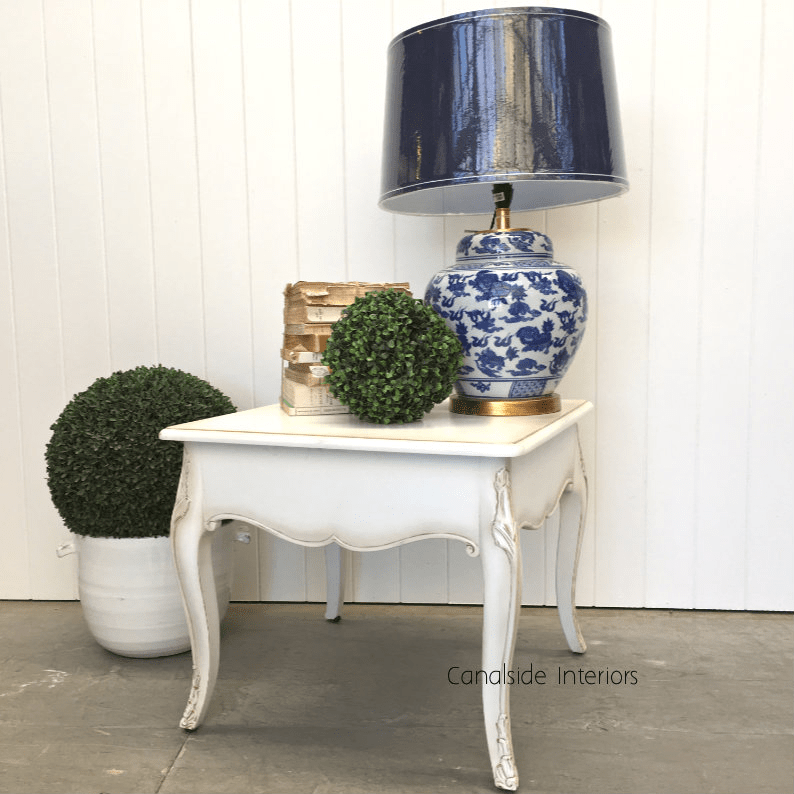 laurent side table coffee table distressed white clearance sale 299