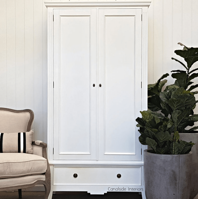peninsula wardrobe armoire distressed