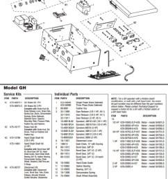 liftmaster gh model heavy industrial duty gear reduced operator parts breakdown schematic [ 623 x 1539 Pixel ]
