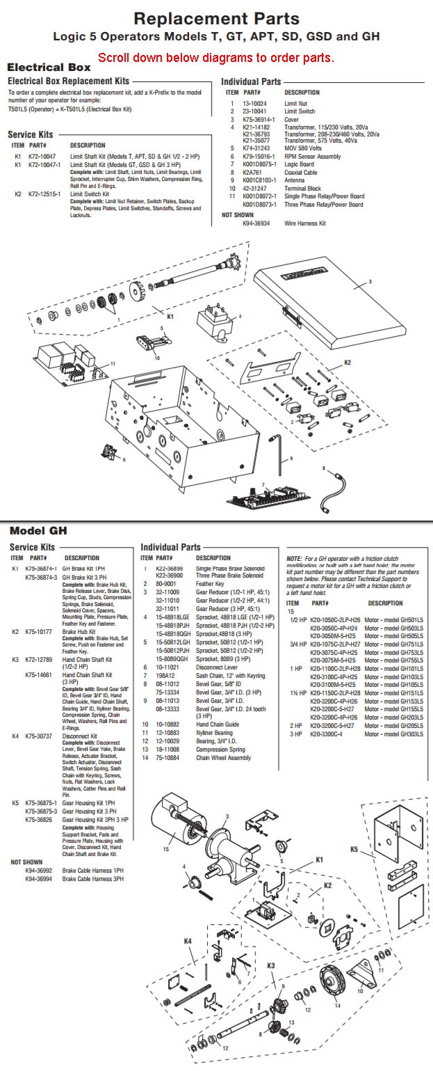 hight resolution of liftmaster gh model heavy industrial duty gear reduced operator parts breakdown schematic