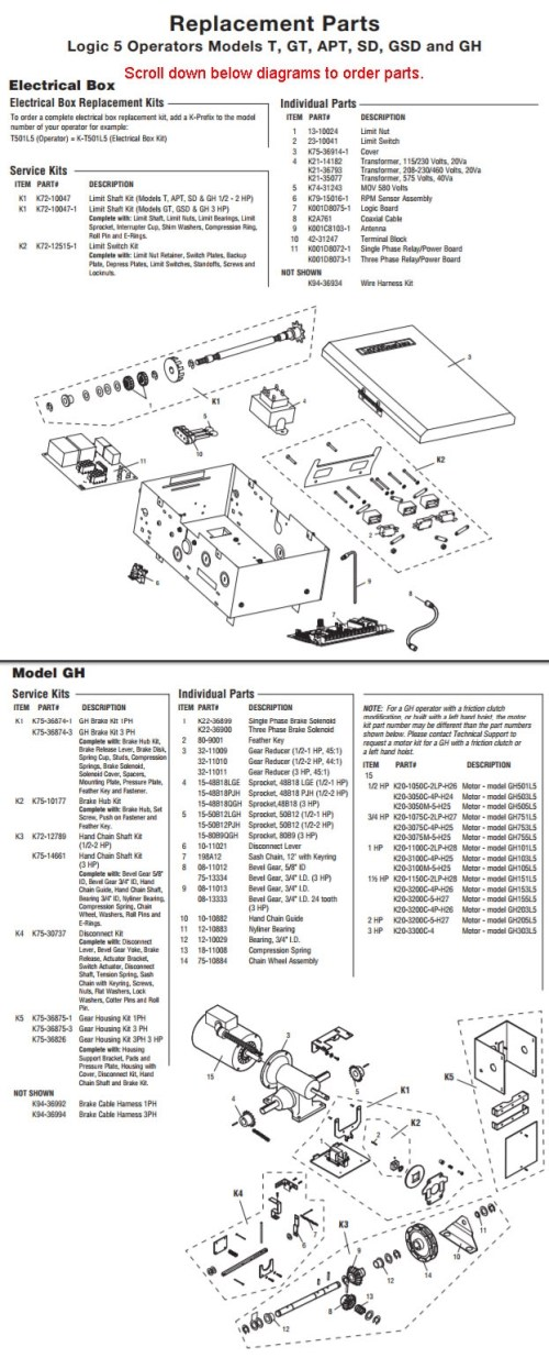 small resolution of liftmaster gh model heavy industrial duty gear reduced operator parts breakdown schematic