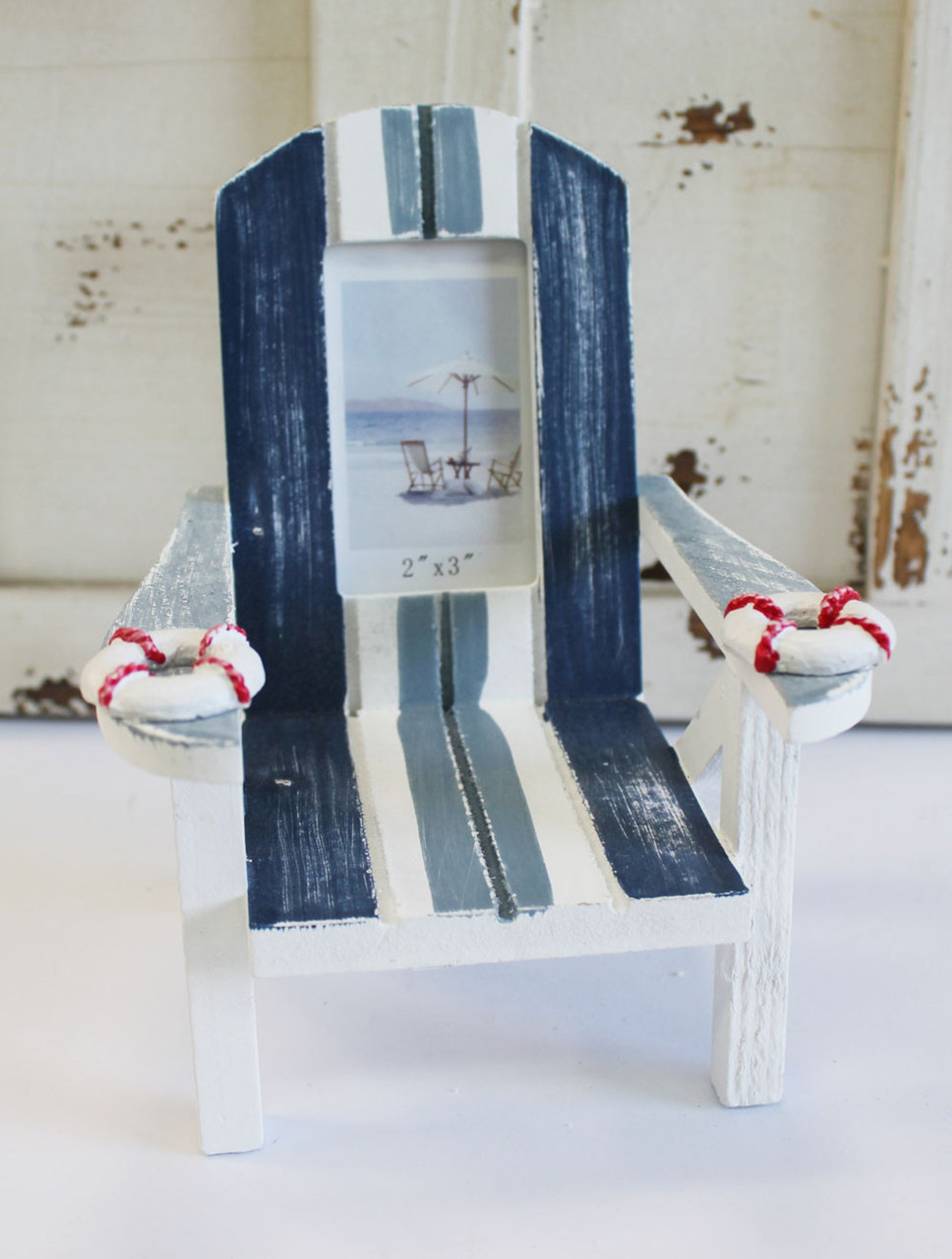 beach chair photo frame indoor wicker chairs white blue 2 x 3 picture nautical