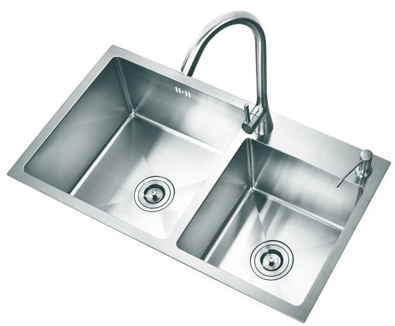 kitchen sink stainless steel shm3218 304 double bowl 32x18x8 7