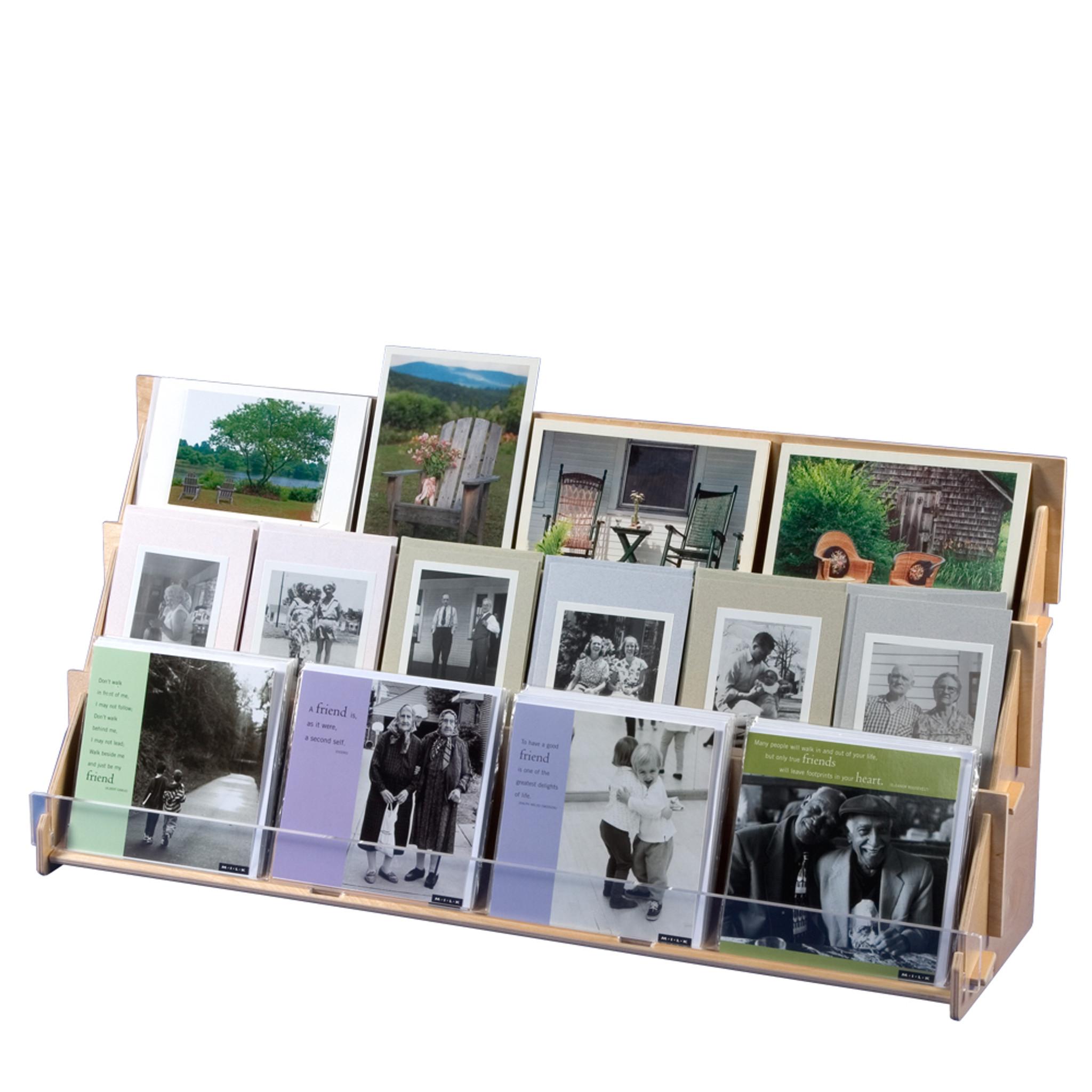 4965 plywood 3 tier greeting card rack
