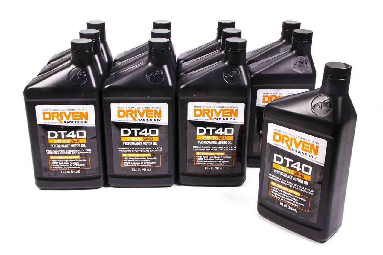 medium resolution of dt40 5w 40 synthetic oil case of 12 quarts jgp02406 12 driven racing