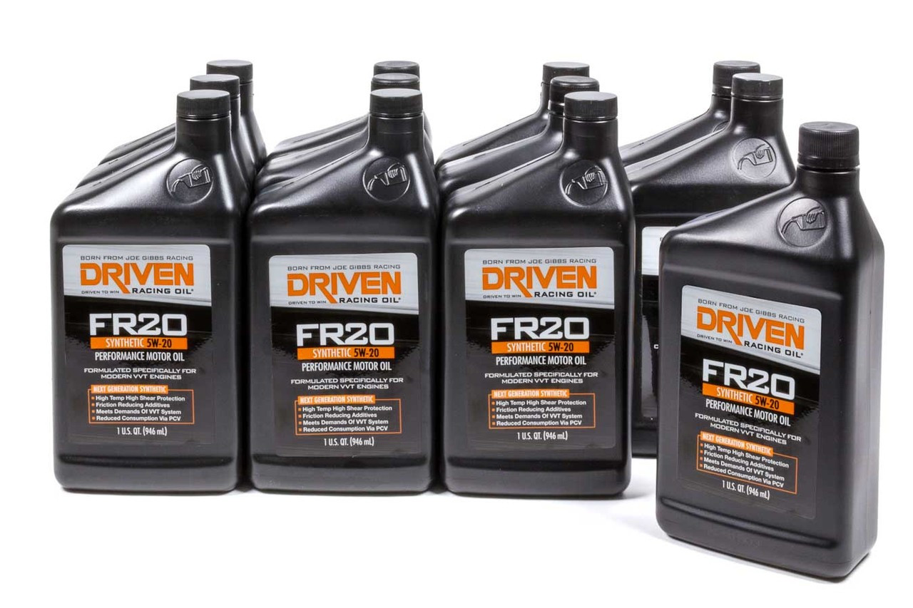 medium resolution of fr20 5w 20 synthetic oil case of 12 quarts jgp03006 12 driven racing