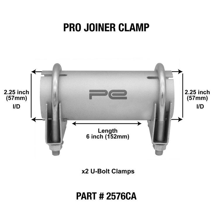2 25 57mm id clamp on exhaust pipe joiner connector sleeve tube repair