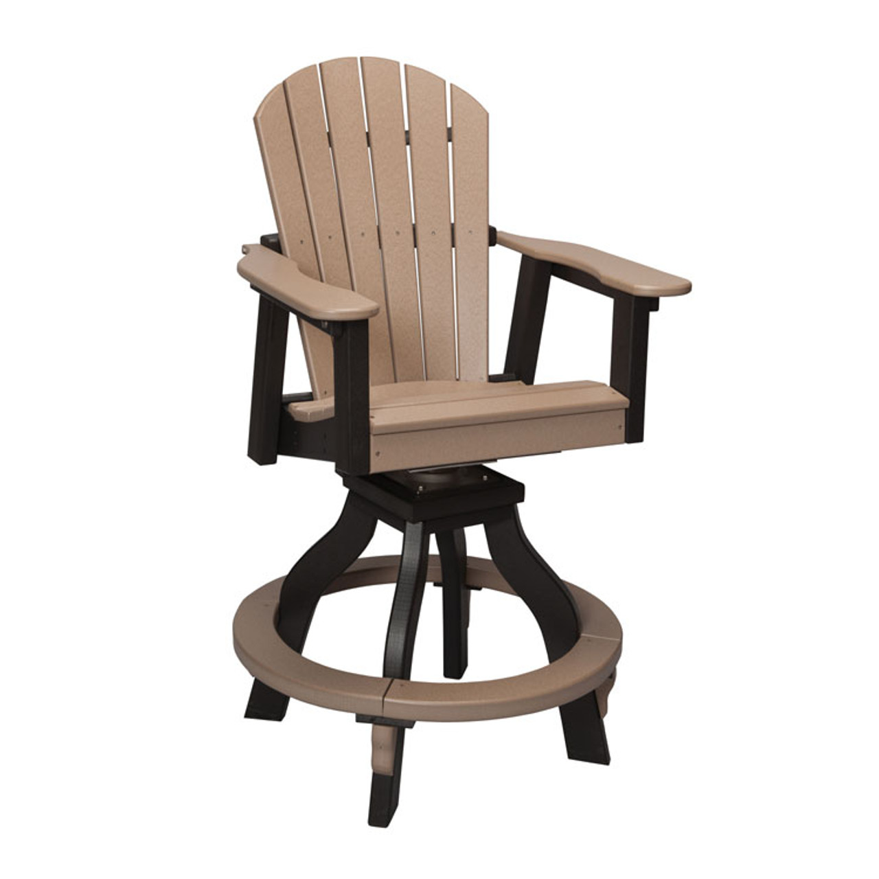 Counter Height Chairs With Arms Oceanside Outdoor Poly Lumber Swivel Counter Height Stool With Arms