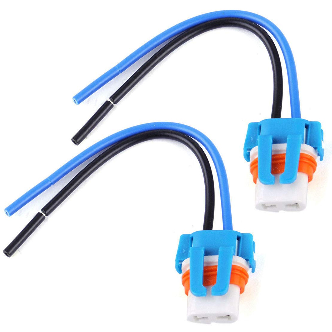 hight resolution of 2 9006 hb4 female socket wire harness bulb holder adapter plug ceramic connector