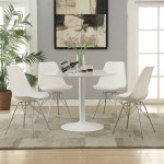 Atherton 5 Pc White Round Table Set