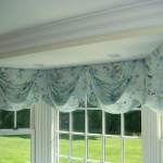 Swag Valance Kitchen Curtains Blue Floral Fabric By Jane Churchill