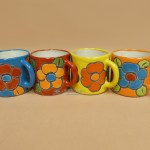 Mexican Hand Painted Talavera Mug 4 Set Of 4 33bc49 Mission Del Rey Southwest