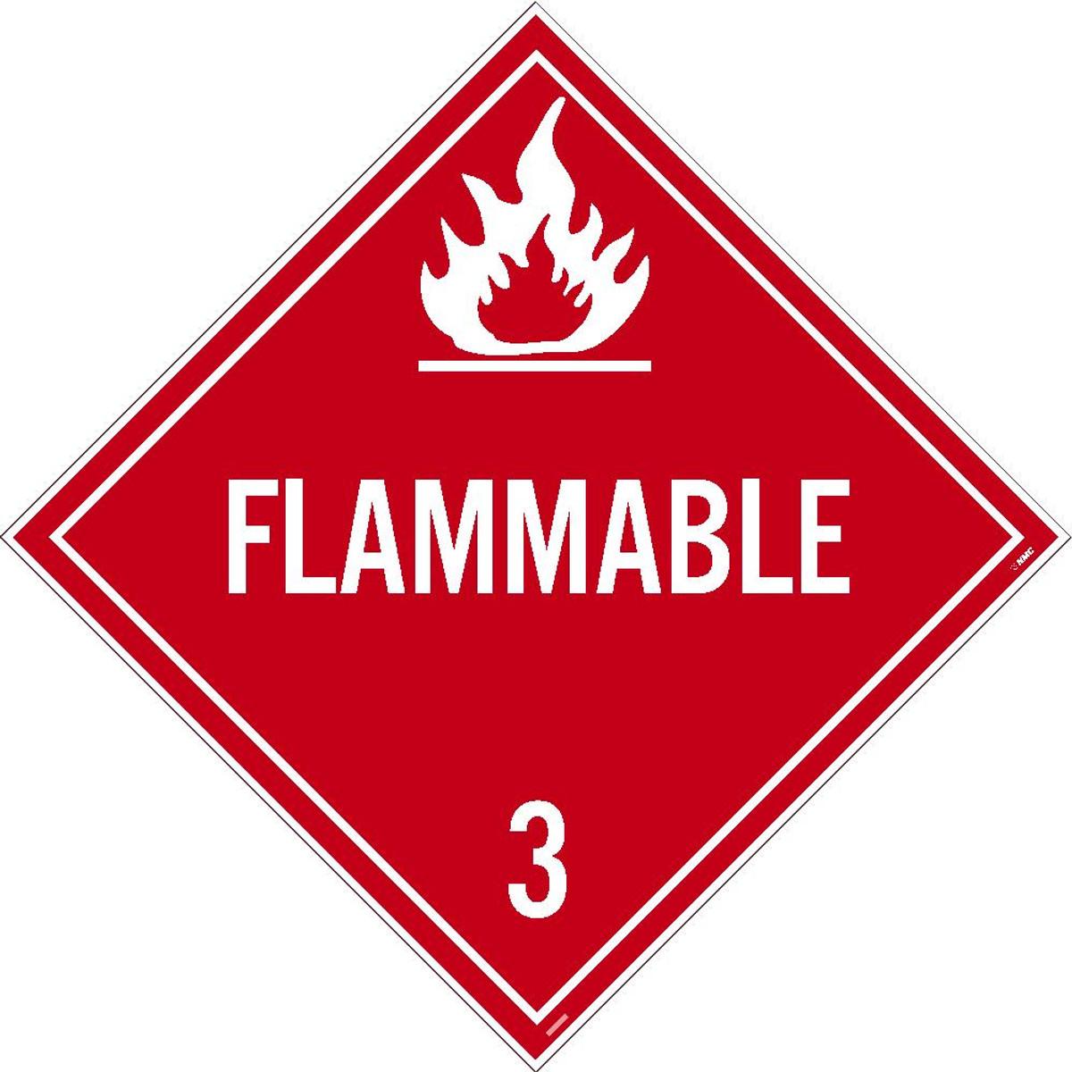 flammable 3 dot placard