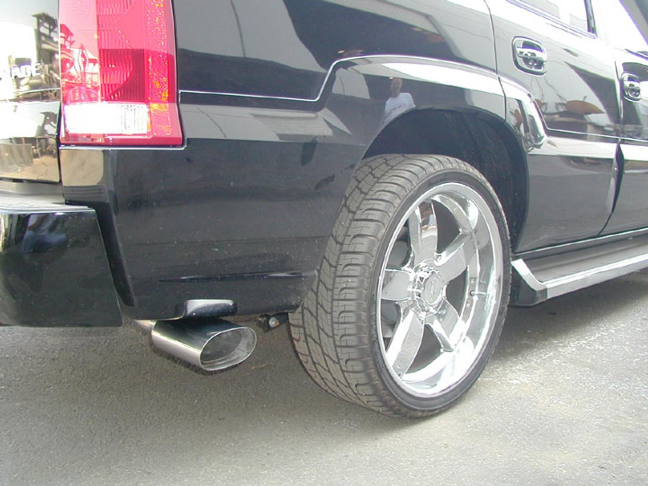 exhaust tips oval cobra r dual split flat oval double wall