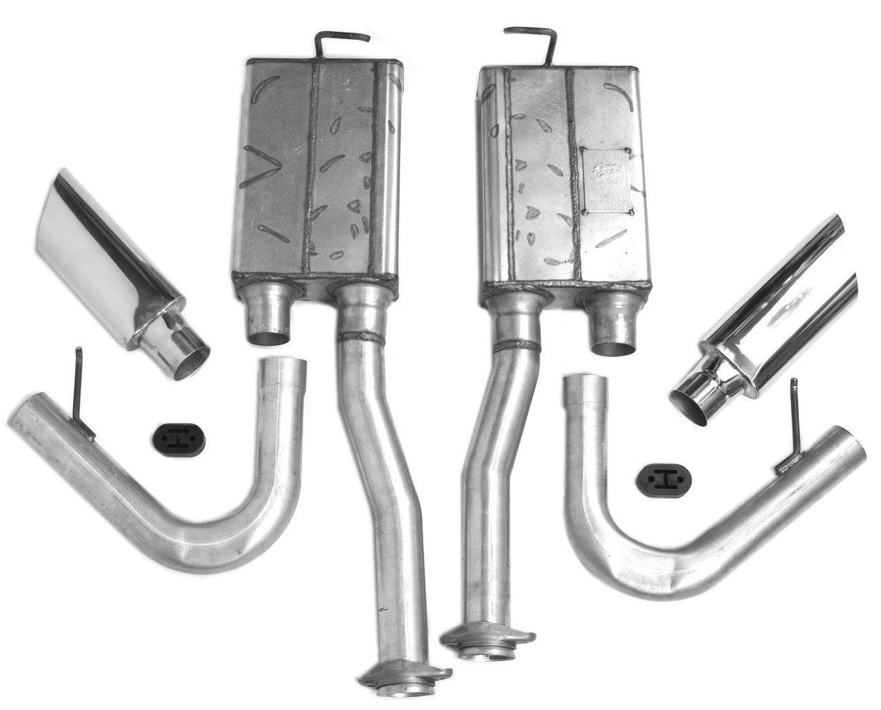 mustang 1996 2004 side exit exhaust kit