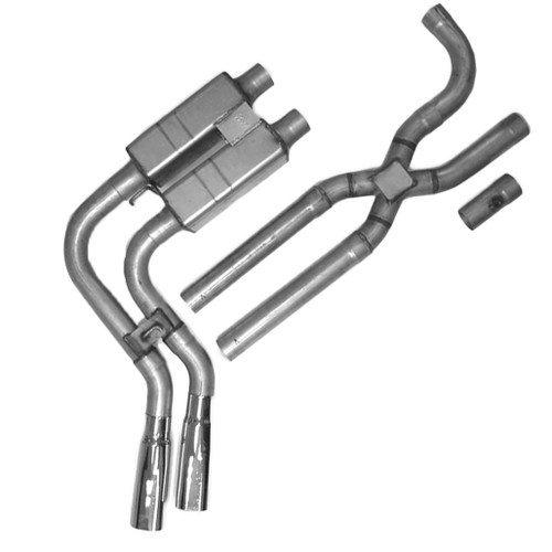 ford f150 true dual x or h pipe side exit system