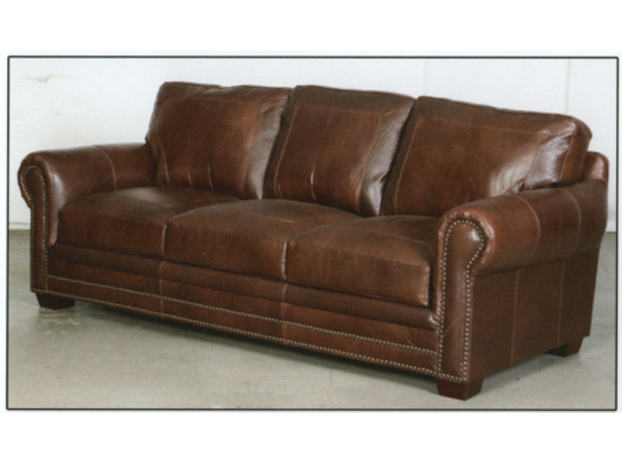 Leather Chair And Ottoman 9650 Basket Weave Brown Leather Sofa
