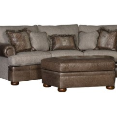 Material And Leather Sofa Set Modern Fabric Withnailhead Trim Conversation