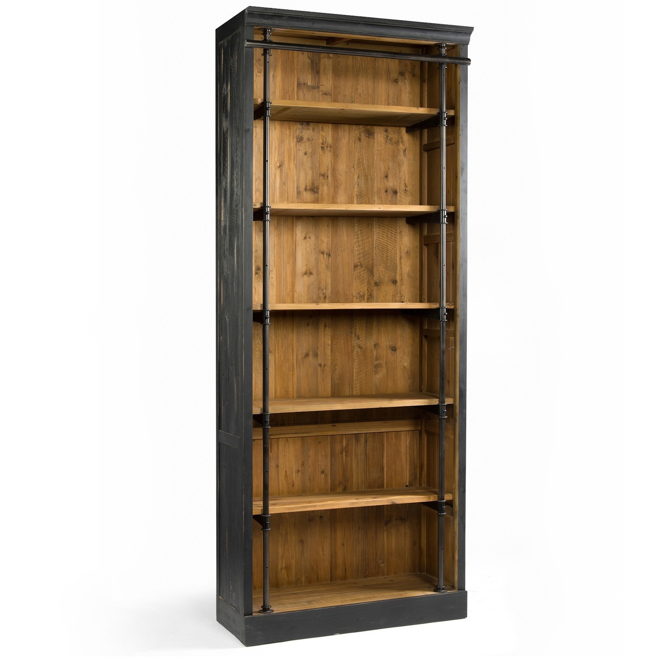 French Library Single Bookcase Black