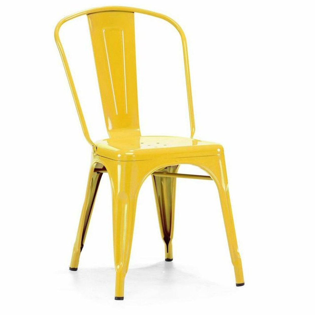 industrial metal chairs outdoor aluminium table and french modern side zin home in yellow