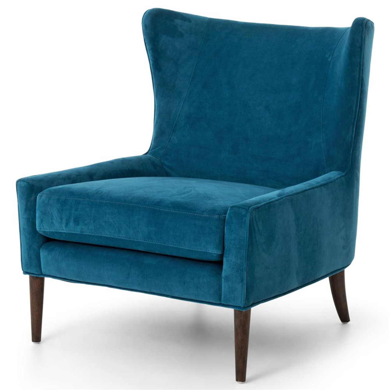 Wing Back Chairs Marlow Upholstered Blue Wing Chair