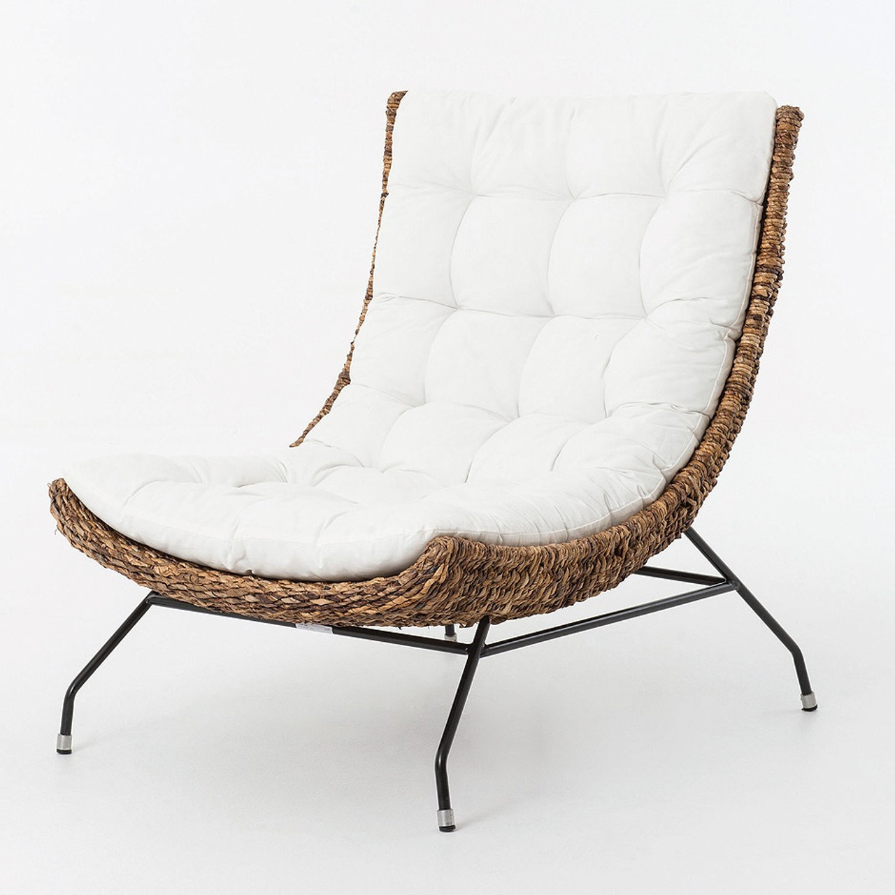 Rattan Accent Chair Banana Leaf Woven Alik Accent Chair